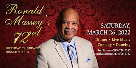 Ronald Massey's 72nd Birthday Celebration tickets