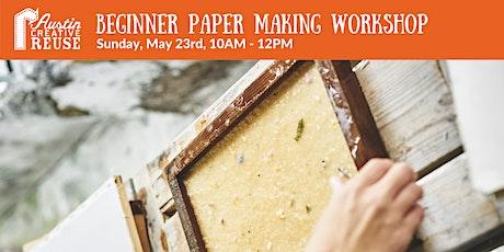 Beginner Paper Making Workshop tickets