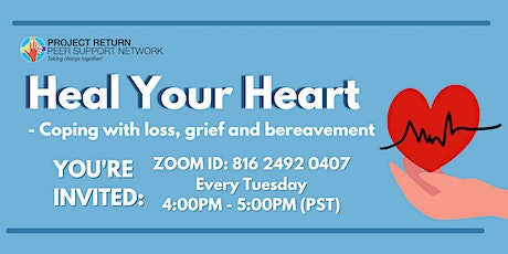 Heal your Heart - Coping with Loss, Grief and Bereavement tickets