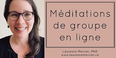 Méditation de groupe en ligne avec Laurence les mardis midi (6 séances) billets
