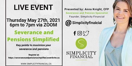 Severance  and Pensions Simplified entradas
