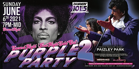 Night 2- PURPLE PARTY ft. Paizley Park (Prince's B-Day Tribute/Honor/Party) tickets