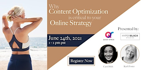 Webinar: Why Content Optimization is Critical to Your Online Strategy tickets
