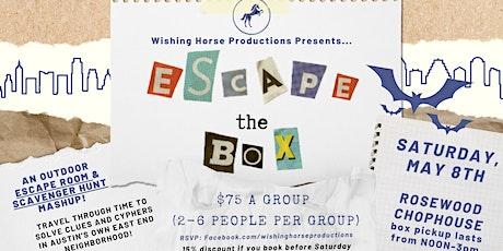 Escape the Box: An East Austin Escape Room and Scavenger Hunt Adventure tickets