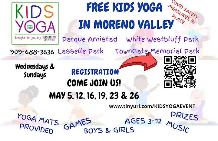 May 5 &12-FREE & FUN Outdoor Kids Yoga Class(Moreno Valley -Parque Amistad) image