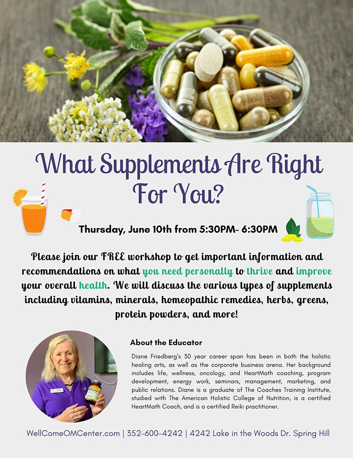 Free Seminar: What Supplements are Right for You? image