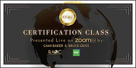 Certification Class tickets