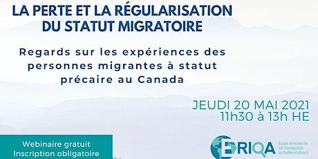 La perte et la régularisation du statut migratoire au Canada billets