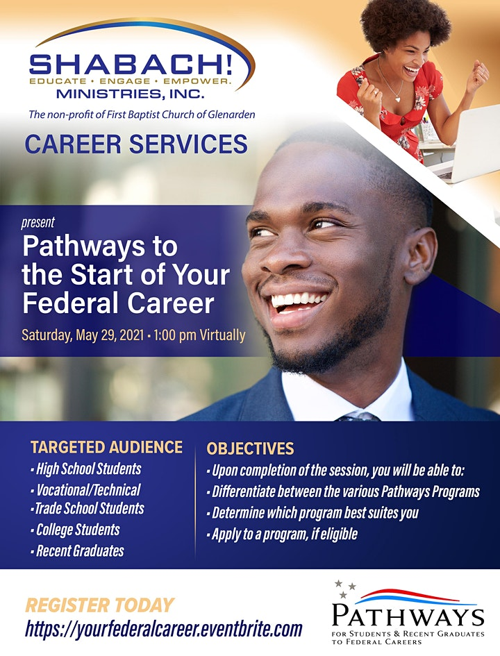 """""""Pathways to the Start of Your Federal Career""""  FREE VIRTUAL WORKSHOP image"""