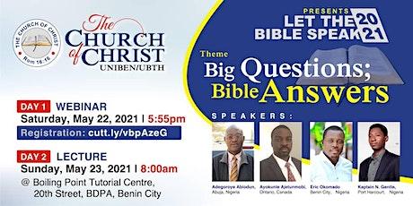 LET THE BIBLE SPEAK WEBINAR 2021 tickets