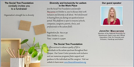 Diversity and Inclusivity for Autism in the workplace tickets