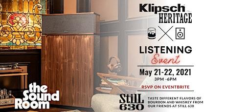 Klipsch Heritage Listening Event at the Sound Room tickets
