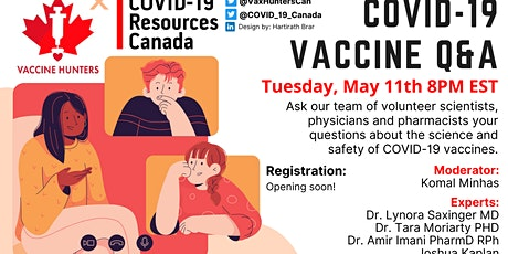 Canada's Covid-19 Vaccine: Hunting for Answers Panel tickets