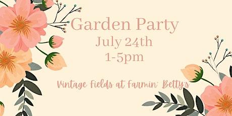 Garden Party  ...1st Lavender Bloom + Food, Wine, Florals, Artisans tickets