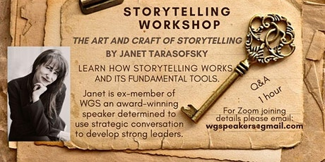 The Art and Craft of Storytelling and its Fundamental Tools tickets