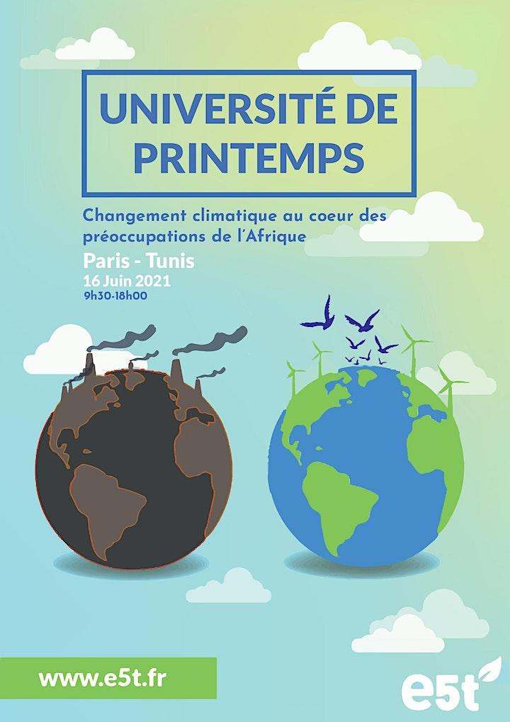 Image pour Université de printemps d'E5T – Tunis - Paris