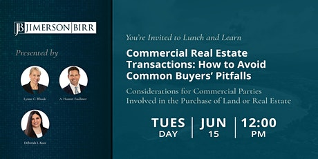 Commercial Real Estate Transactions: How to Avoid Common Buyers' Pitfalls tickets