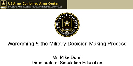 Wargaming & the Military Decision Making Process tickets
