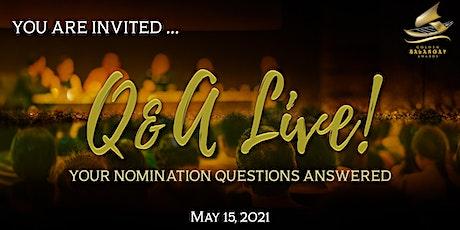 GBA Q & A Live tickets