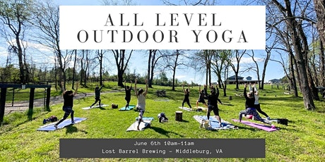 Free All Levels Outdoor Yoga @ Lost Barrel Brewing tickets