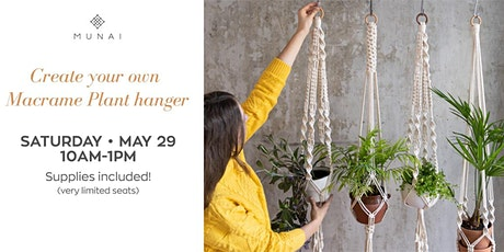 Create your own Macrame Plant hanger tickets