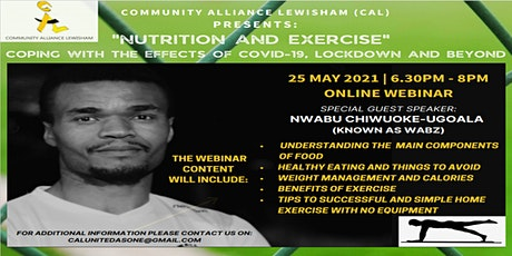 Nutrition & Exercise: Coping with the effects of COVID-19 Lockdown & Beyond tickets
