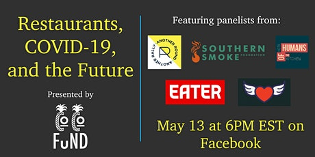 Restaurants, COVID-19, and the Future presented by The COCO Fund tickets