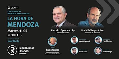 R. López Murphy - R. Vargas Arizu. La hora de Mendoza.Martes 11 mayo, 20 hs boletos