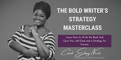 The Bold Writers 2021 Writing Masterclass: Zoom Edition tickets