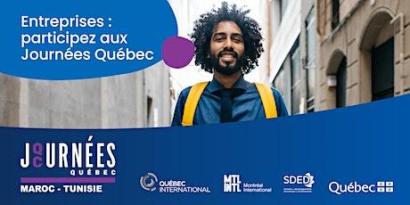 Journées Québec Maroc-Tunisie billets