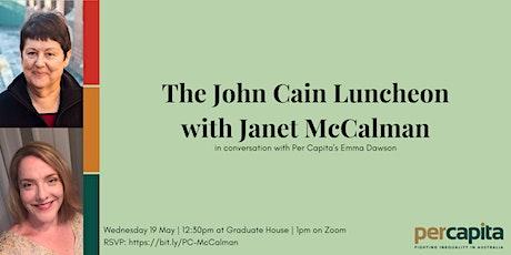 John Cain Luncheon: Janet McCalman tickets