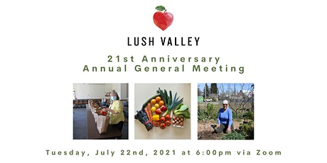LUSH Valley 2021 Annual General Meeting tickets