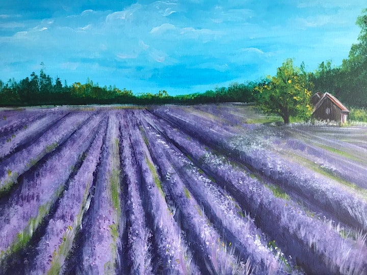 Chill & Paint Friday Night at  Auck City Hotel  - Lavender Field! SOLD OUT! image