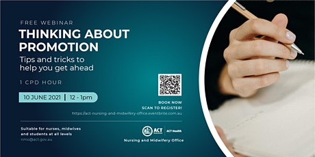 Thinking About Promotion - A Webinar for Nurses and Midwives tickets