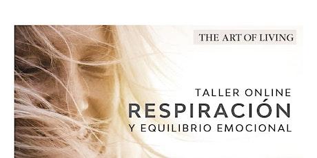 RESPIRACIÓN Y EQUILIBRIO EMOCIONAL boletos