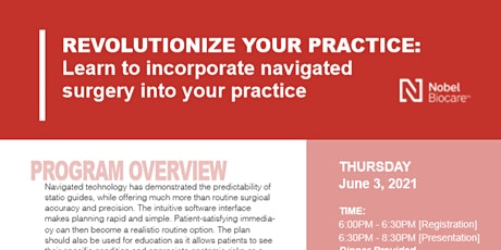 Learn to Incorporate Navigated Surgery into your Practice tickets