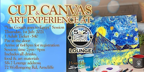Cup & Canvas Art Experience @ 5&2 Lounge - 1 July, 2021 tickets