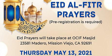 OCIF Eid Prayers: May 13, 2021 tickets