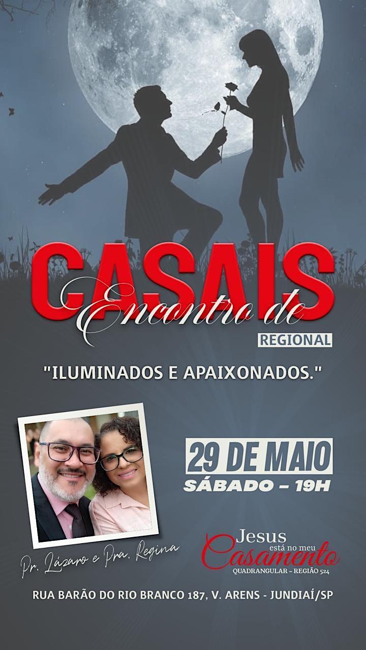 Imagem do evento Encontro Regional de Casais - Sábado 29/05 - 19h