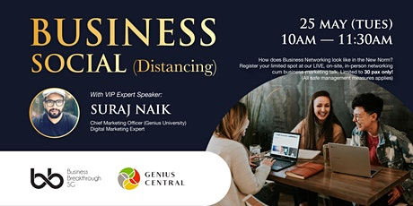 Business Social (Distancing) - The Future of Entrepreneurship tickets