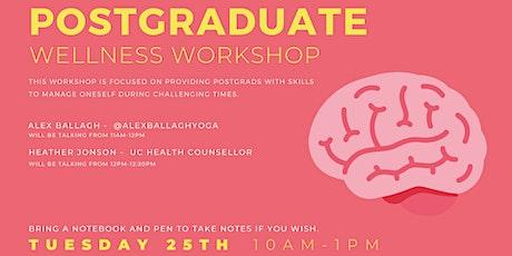Postgraduate Wellness Workshop tickets