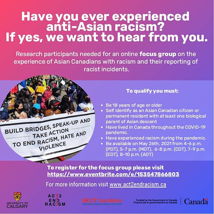 Online Focus Group for the Research Study with the U of C image