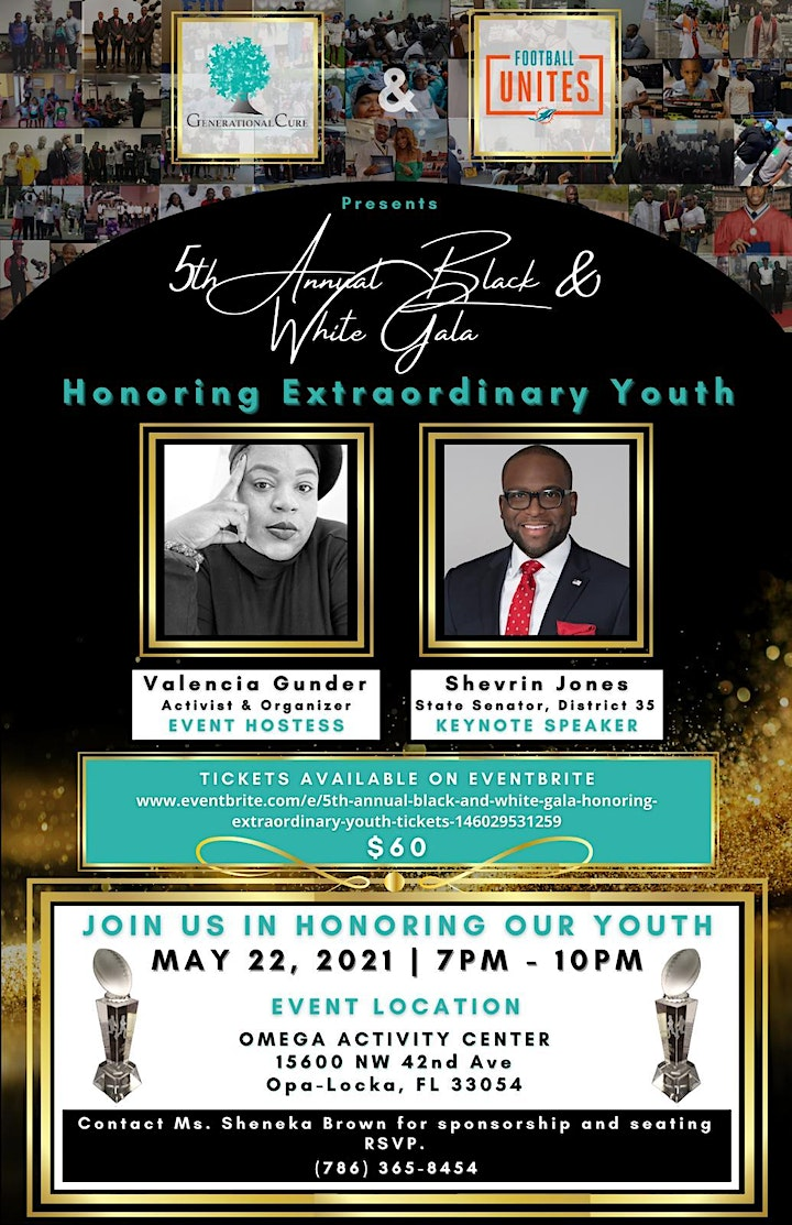 """5th annual Black and White Gala """"Honoring Extraordinary Youth."""" image"""