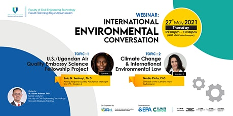 FCET WEBINAR: INTERNATIONAL ENVIRONMENTAL CONVERSATION tickets