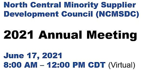 NCMSDC 2021 Annual Meeting tickets