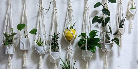 Upcycled T-shirt Macrame planter workshop tickets