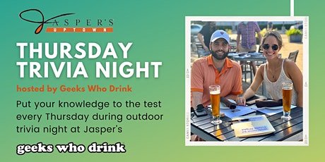 Thursday's Trivia Night at Jasper's Uptown tickets