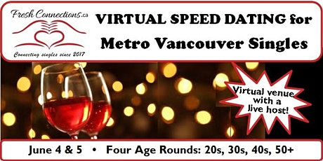 Virtual Speed Dating for Metro Vancouver Singles (50+) tickets