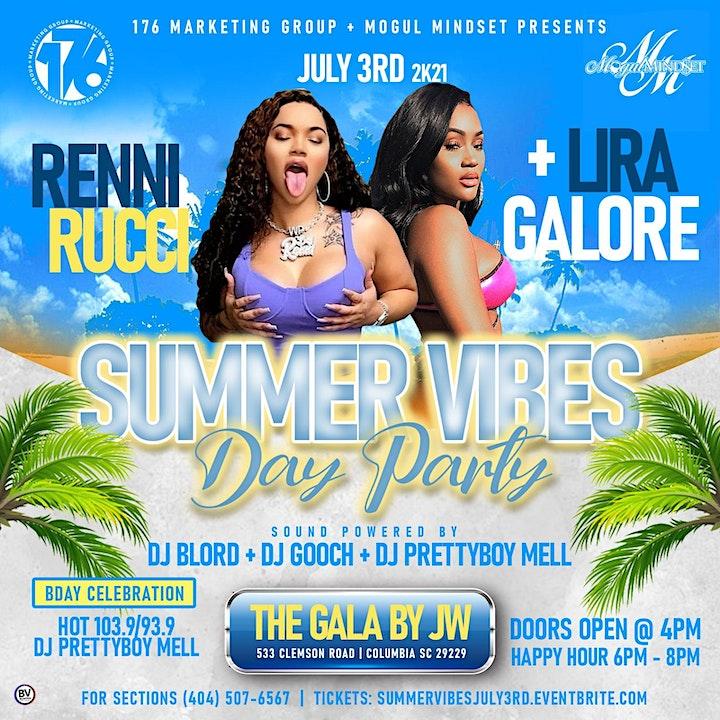 Summer Vibes Day Party w/ Renni Rucci +Lira Galore image