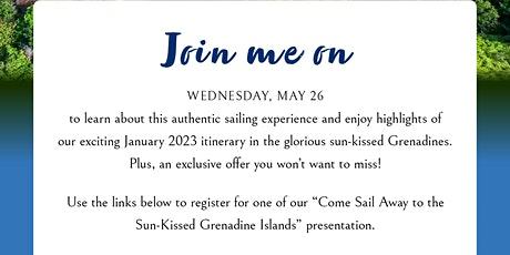 Come Sail Away to the Sun-Kissed Grenadine Islands tickets
